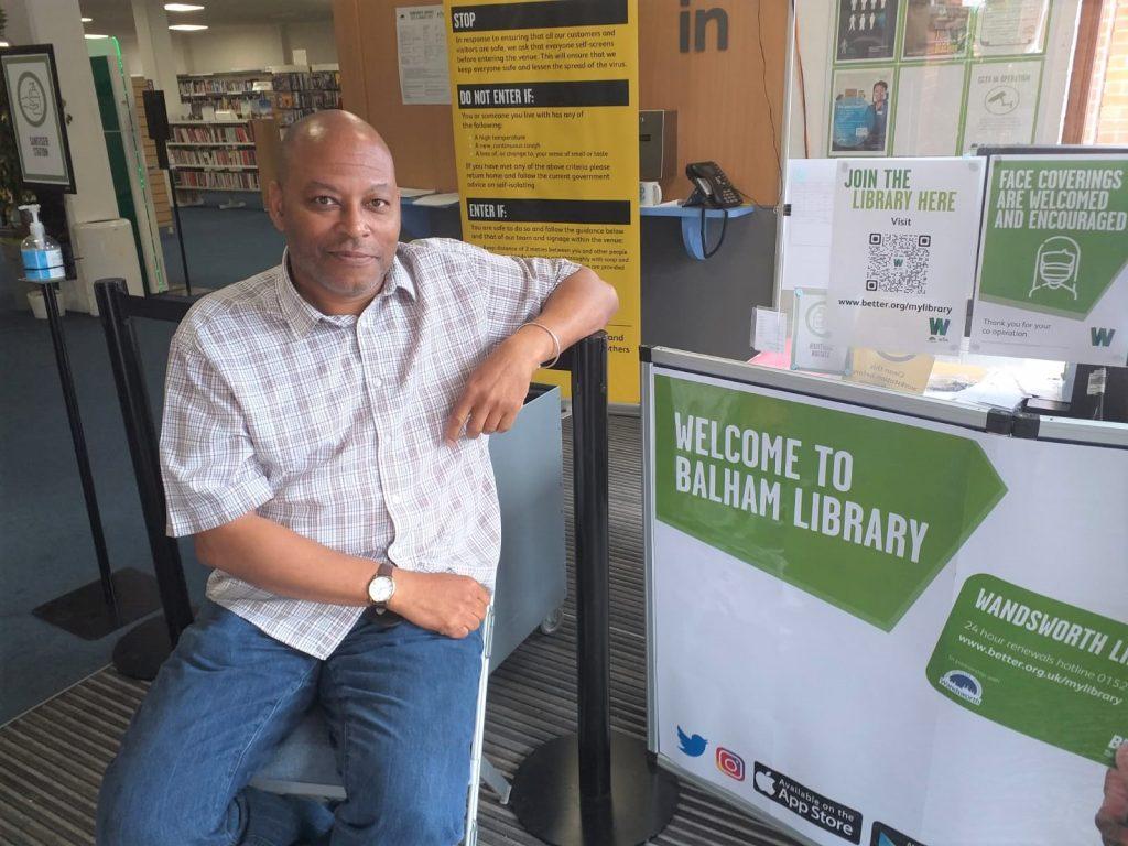 Colin Babb at Balham library